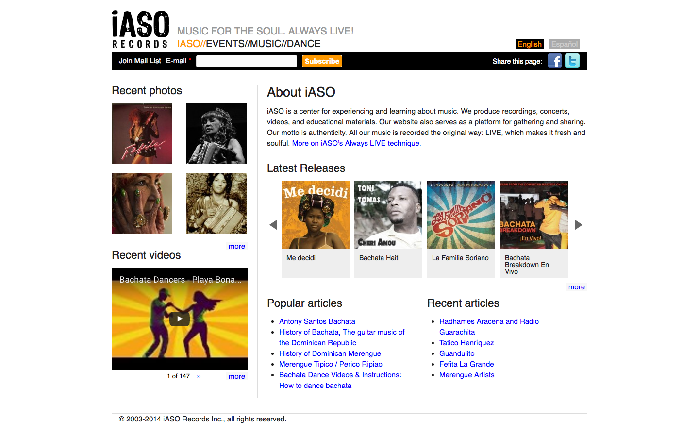 iASO website before.